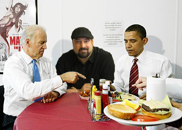 Biden Rev Ciancio Obama Hamburger