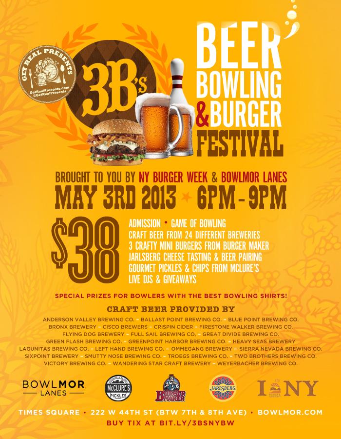 3Bs_Beer_Bowling_Burger_Festival_Bowlmor_Get_Real_Presents_NY_Burger_Week_Final_Revised
