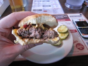 Brother_Jimmys_Burger_Shack_review_nyc_pitcher_of_beer_071210_cheeseburger