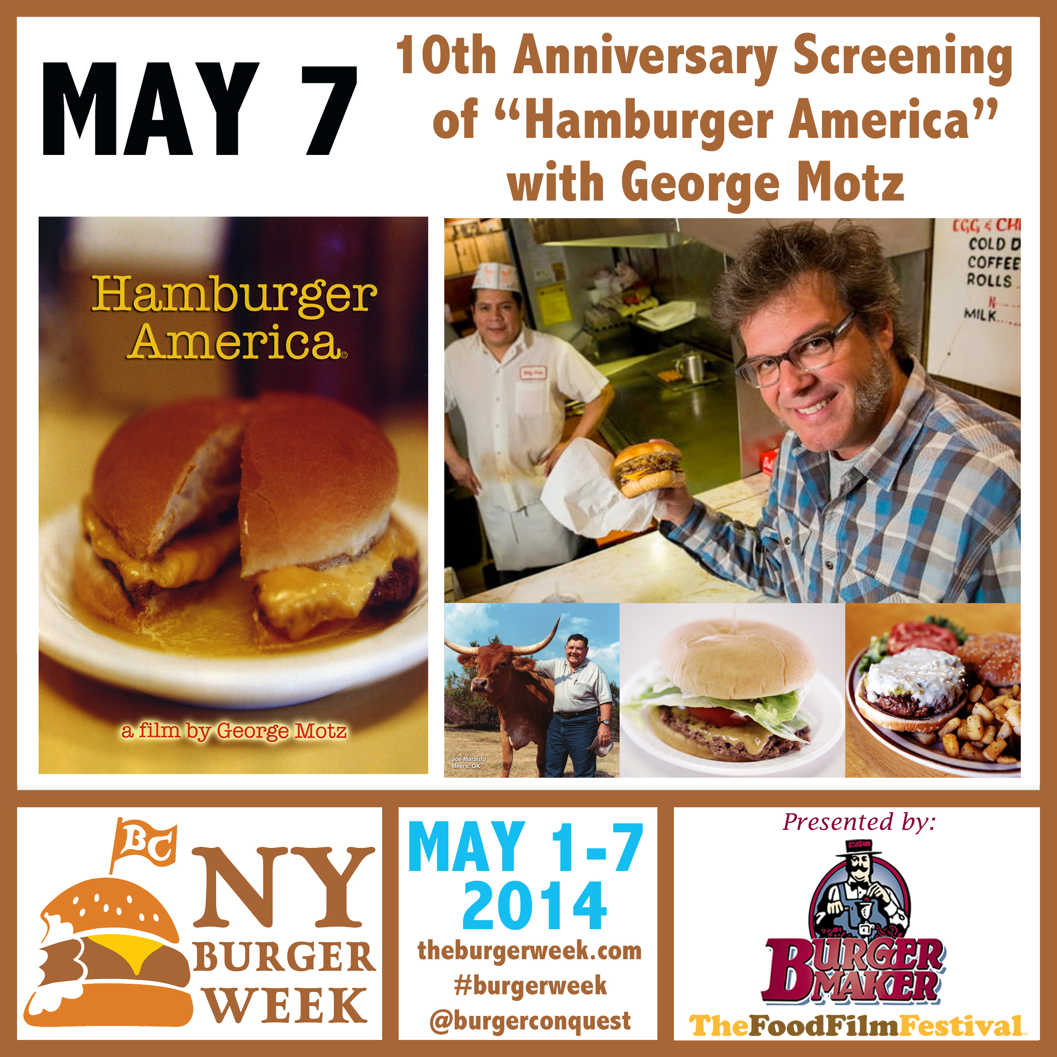 3rd annual ny burger week 10th anniversary screening of for American cuisine movie