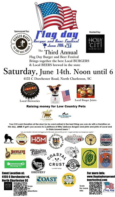 Flag_Day_Burger_and_Beer_Festival_Charletson_SC_Holy_City_Brewing_Burger_Maker_061414_Event_Poster