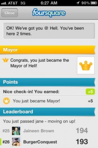 How_to_Become_Mayor_In_Swarm_App_white_star_jersey_city_burger_conquest_foursquare_mayor_of_hell