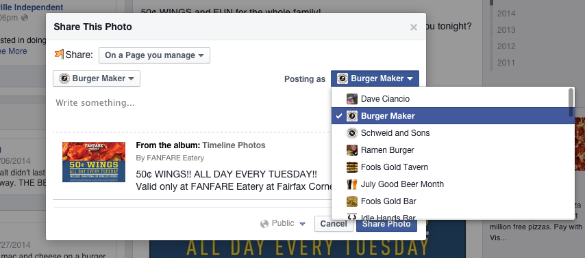 how_to_post_as_yourself_on_facebook_page_admin_fanfare_eatery_fairfax_virginia_07.21 PM