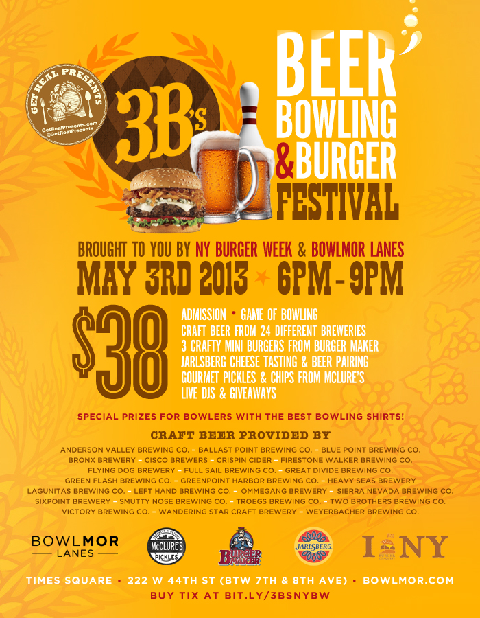3Bs_Beer_Bowling_Burger_Festival_Bowlmor_Get_Real_Presents_NY_Burger_Week_Final_Revised