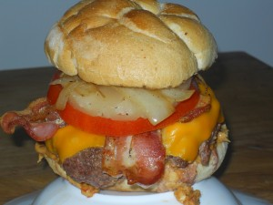 Sidewalk_Cafe__NY_Burger_Week_Burger_Conquest_Off_Menu_Delivery_Nutty Hawaiian Burger