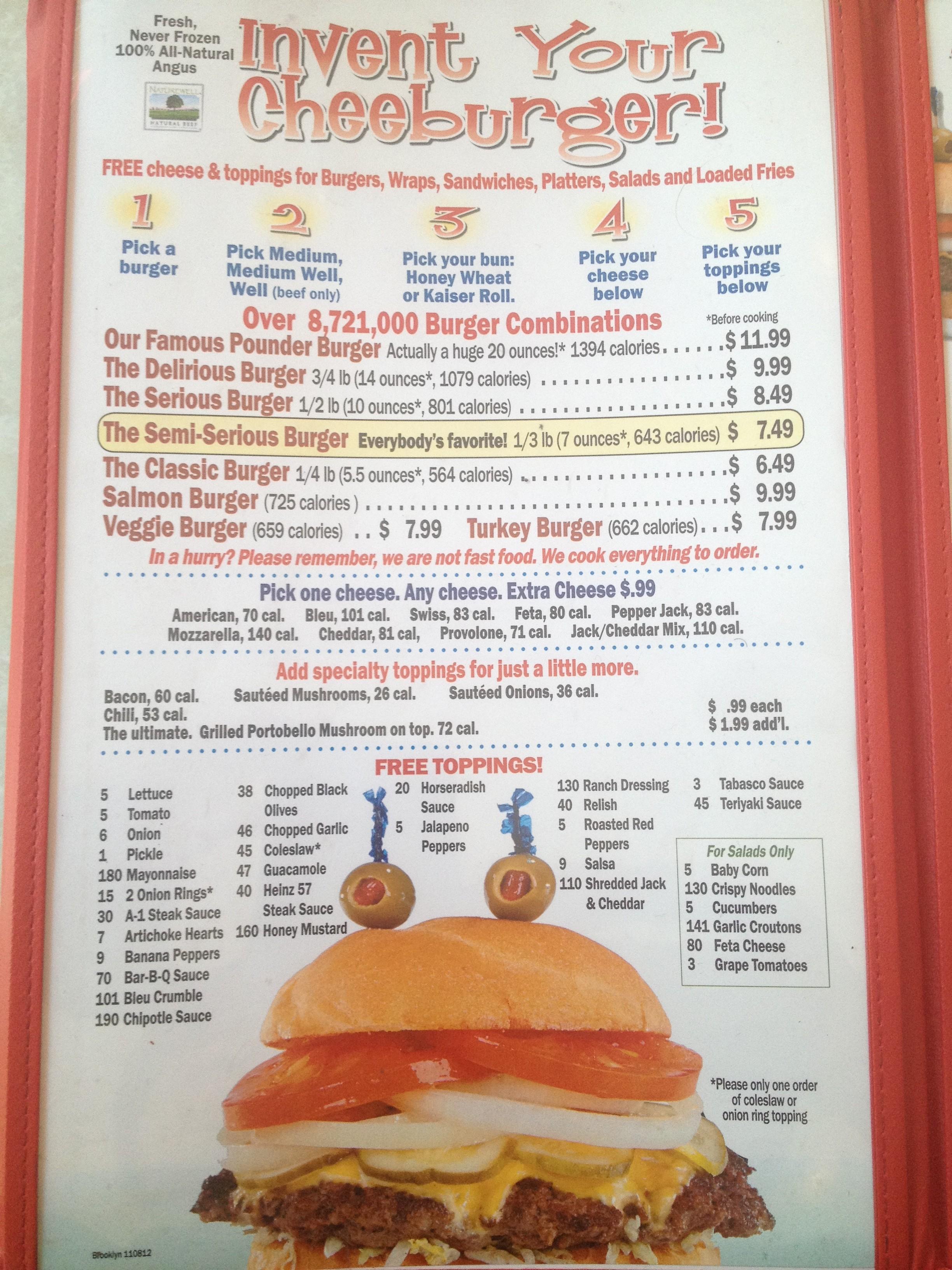 Cheeburger Cheeburger 50s Style Burgers And Flavor Bomb