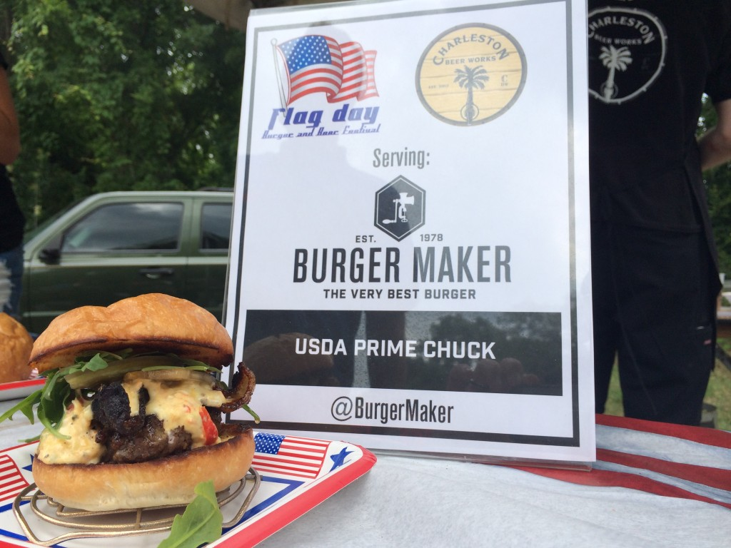 Flag_Day_Burger_and_Beer_Festival_Charletson_SC_Holy_City_Brewing_Burger_Maker_061414_6418