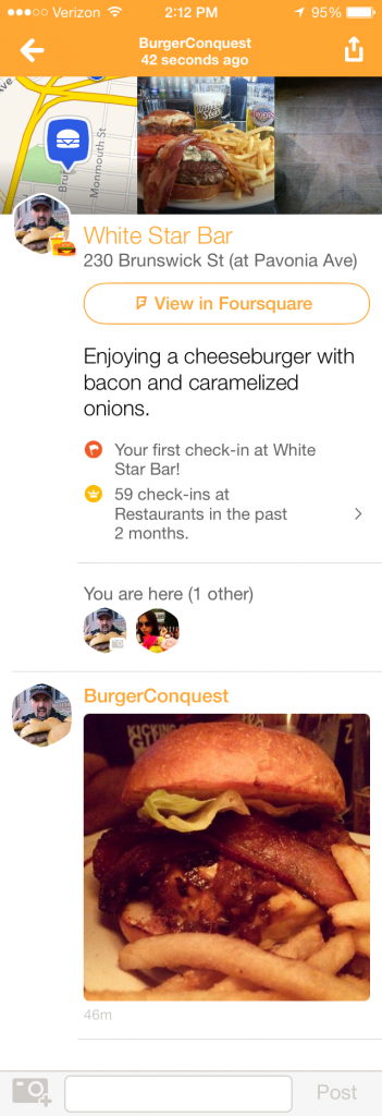 How_to_Become_Mayor_In_Swarm_App_white_star_jersey_city_burger_conquest_1377
